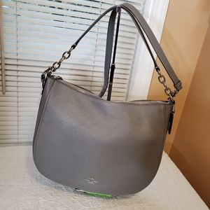 Coach Grey Elle Hobo Large